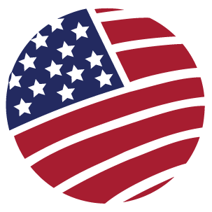 pattern showing USA flag in round shape