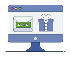 claim link via email