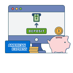 deposit with amex