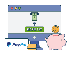 deposit with paypal