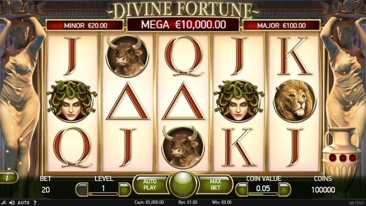 divine fortune progressive slot netent