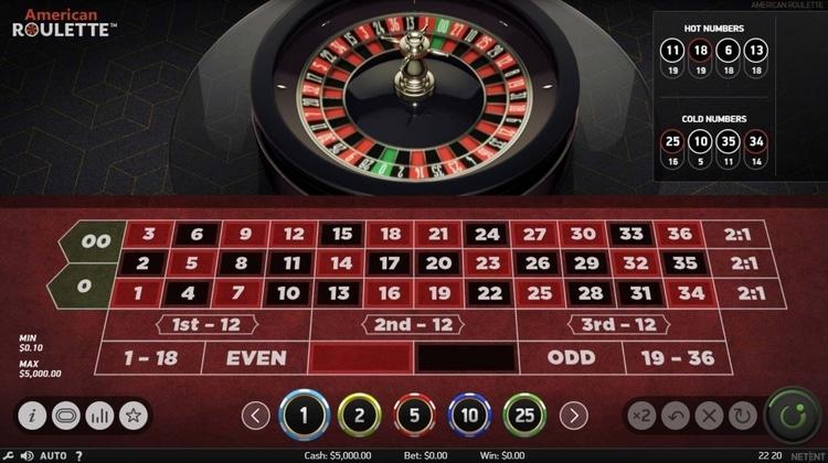 netent american roulette online