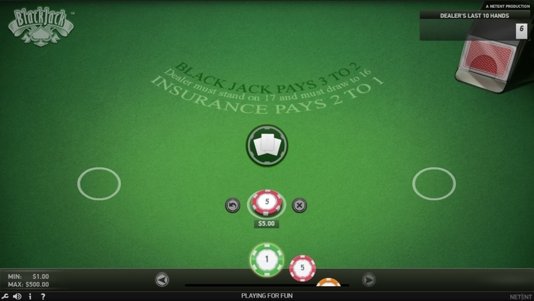 netent blackjack classic online