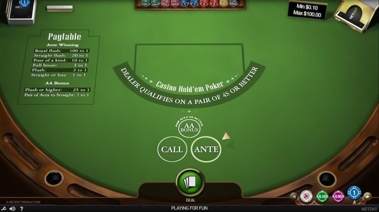 netent casino holdem online