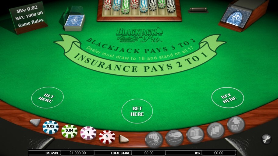 nextgen gaming blackjack pro atlantic city base game