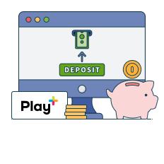 deposit with playplus