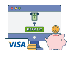 deposit with visa