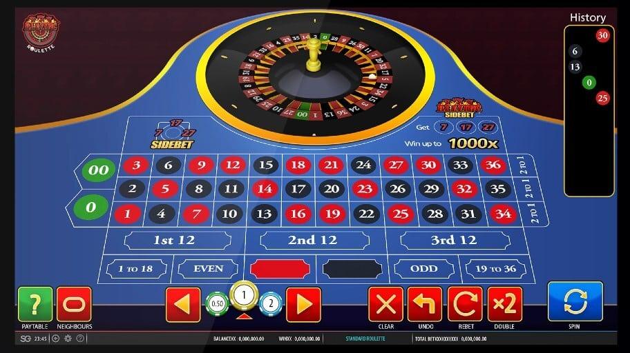 blazing 7s roulette