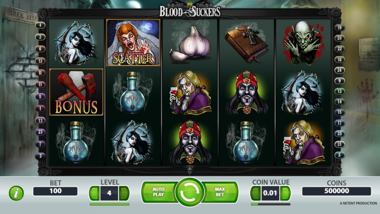 blood suckers slot base game