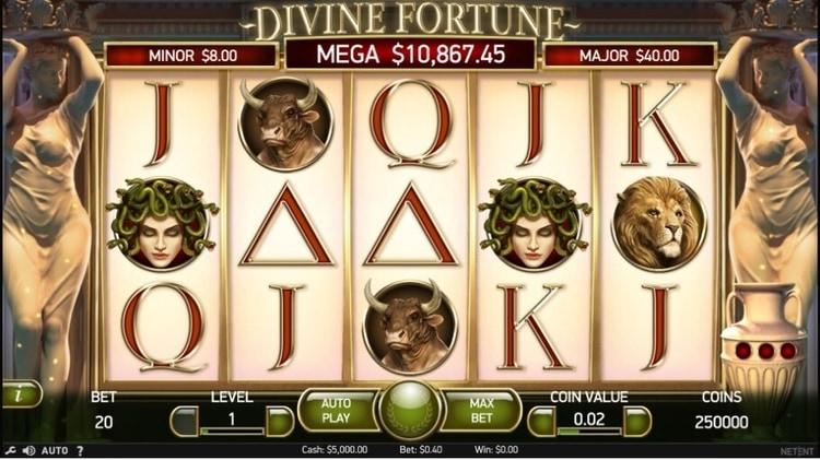 divine fortune base game