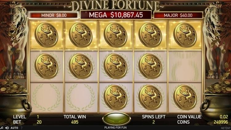 divine fortune jackpot feature