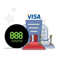 888casino and visa logo