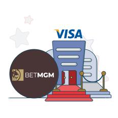 betmgm casino and visa logo