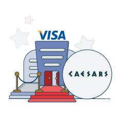 caesars casino and visa logo