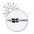 high 5 games logo with firework graphic