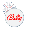bally logo with fireworks graphic