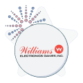 williams electronics logo with firework graphic