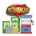 bonanza slot logo and slot symbol graphics