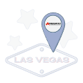 dropped location pin over las vegas text