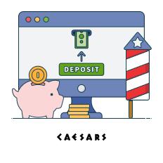 deposit and play caesars