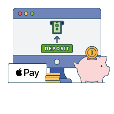 deposit with apple pay