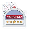 monopoly logo with slot graphic