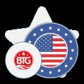 big time gaming logo and american flag