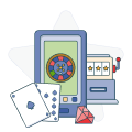 mobile device and slot machine graphic