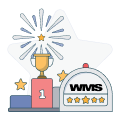 wms logo with trophy and fireworks graphic