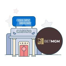 betmgm casino and amex logo