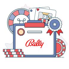 bally logo and game symbols