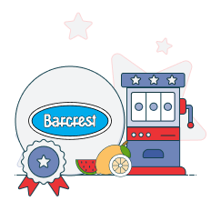 barcrest logo with slots graphics