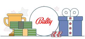 bally logo and casino symbols
