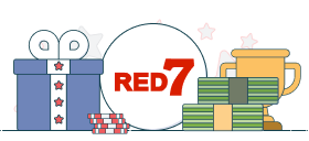 red7 logo with casino symbols