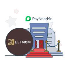 betmgm casino and paynearme logo
