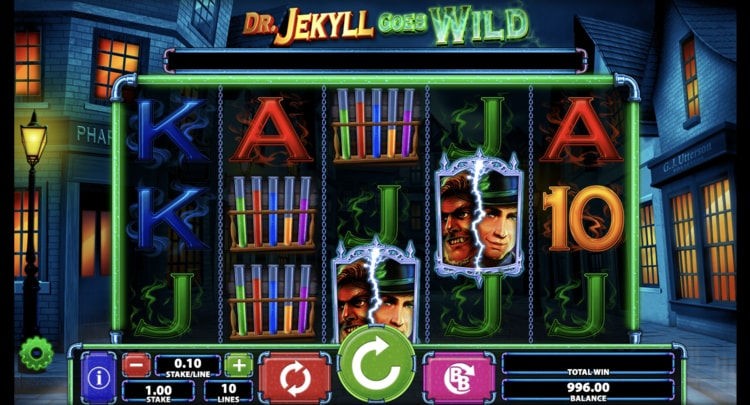 dr jekyll goes wild slot screenshot