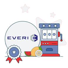 everi logo and slot machine graphic
