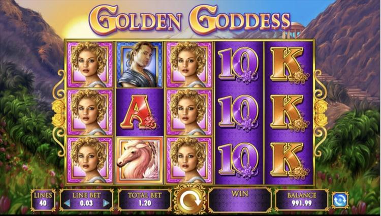 golden goddess slot screenshot