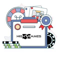 high 5 games logo with casino symbols