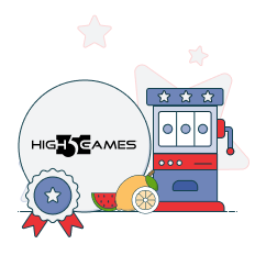 high 5 games logo with slots graphic