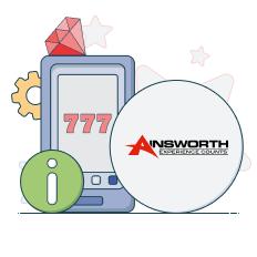 ainsworth logo and info symbols