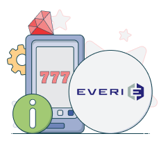 everi logo and info symbols