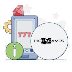 high 5 games logo and info symbols