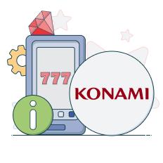 konami logo and info symbols