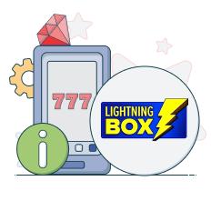 lightning box logo and info symbols