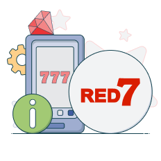 red7 logo and info symbols