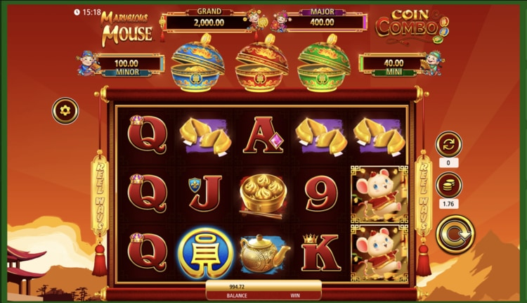 marvelous mouse coin combo slot screenshot
