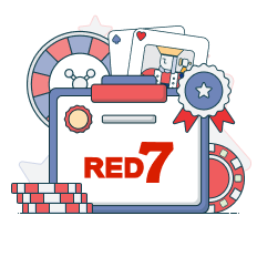 red7 logo and game symbols