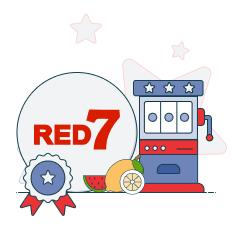 red7 logo and slot machine graphic