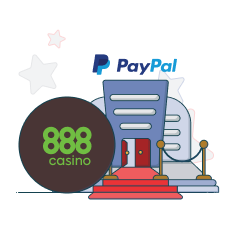 888casino and paypal logo